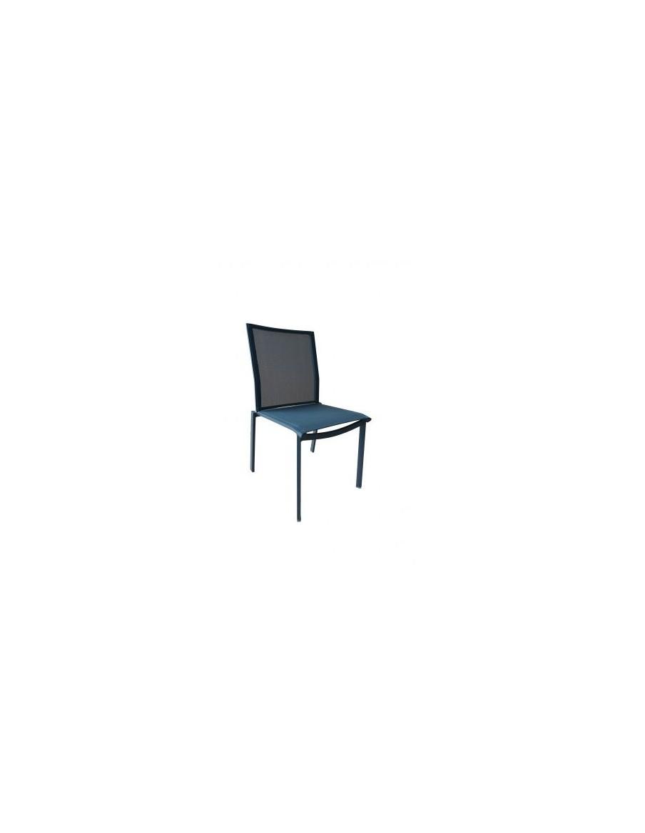 """Chaise """"Alex"""" anthracite L'Estivalier Salons de jardin repas"""