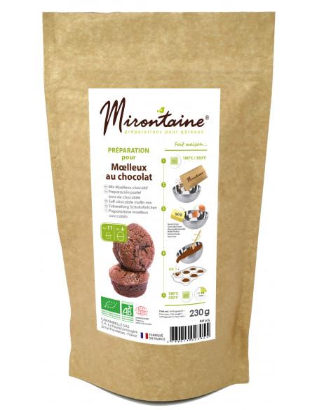 Préparation BIO - Moelleux au chocolat Mirontaine Scrapcooking