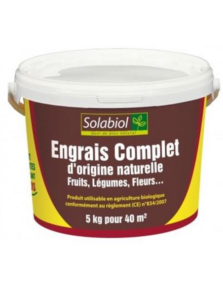 Engrais complet 5Kg Solabiol Engrais