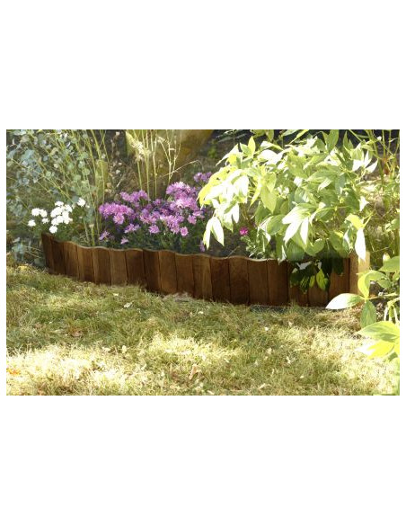 Bordure à planter vague marron L.110.5 x H.30 cm Forest Style Bordures