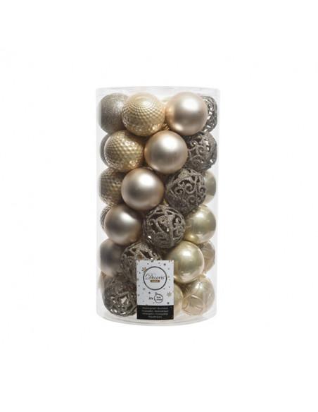 Pack de 37 boules coloris perle Kaemingk BV Décoration Noël Chic