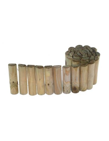 Bordure en bois en rouleau H.30 cm x 2 m HillHout Bordures
