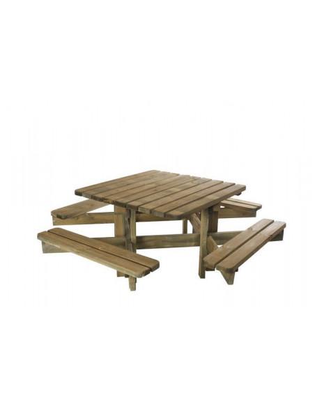 Table picnic Octave 200x200x75cm Forest Style Salons de jardin repas