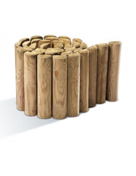 Bordure en bois demi rondin H.40 cm x 200 cm Forest Style Bordures