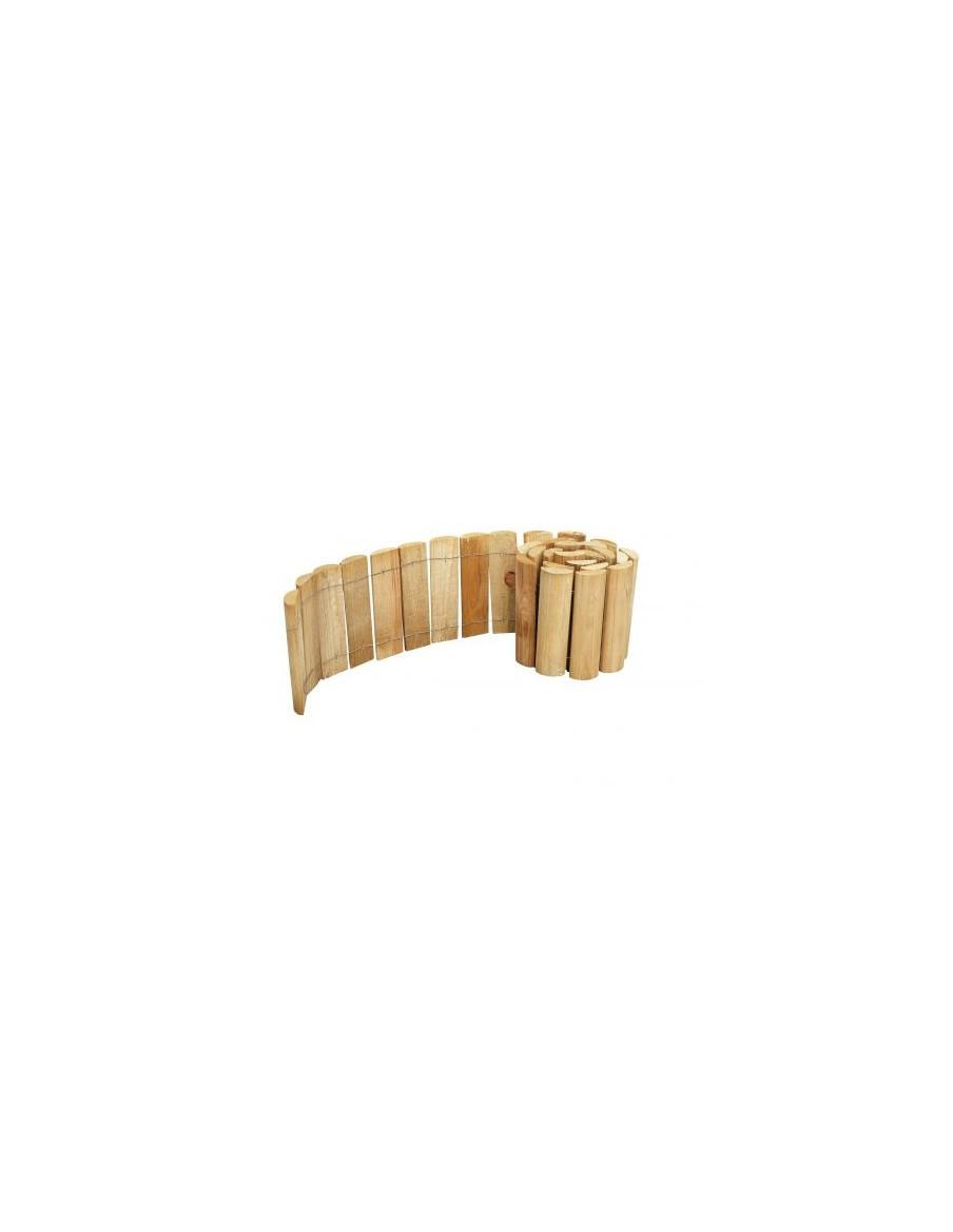Bordure demi rondin Siloux H.20 cm x L.180 cm Forest Style Bordures