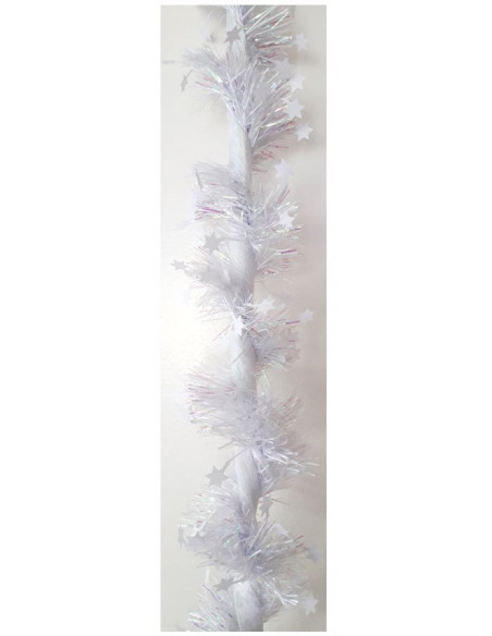 Guirlande étoiles - ruban blanc  Décoration Noël Chic