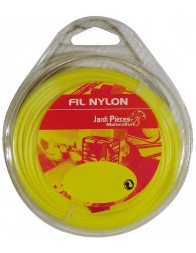 Fil Nylon Rond Ø3mm - 15M Jardipièces Tonte du gazon et bordures