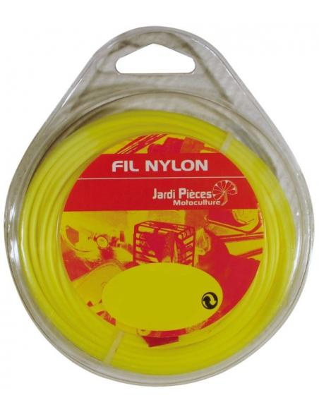 Fil Nylon Rond Ø2.4mm - 15M Jardipièces Tonte du gazon et bordures