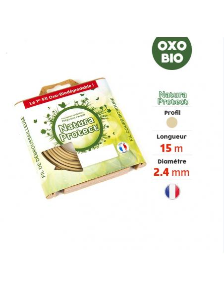 Fil Nylon Oxo Biodégradable Rond Ø2.4 mm -15M Sterenn MDS Tonte du gazon et bordures