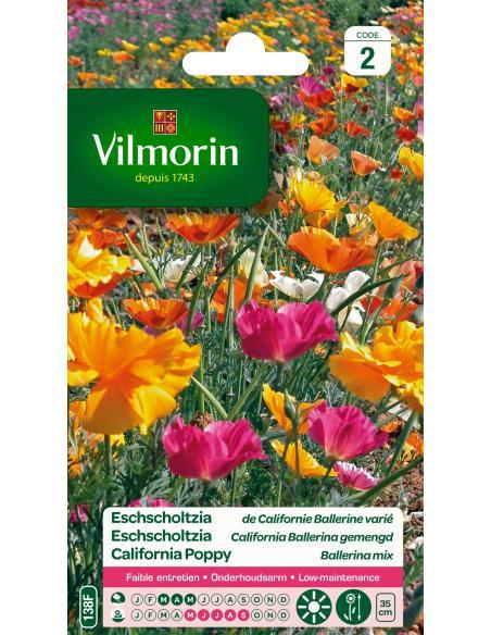 Eschscholtzia de Californie Ballerine Vilmorin Graines de fleurs