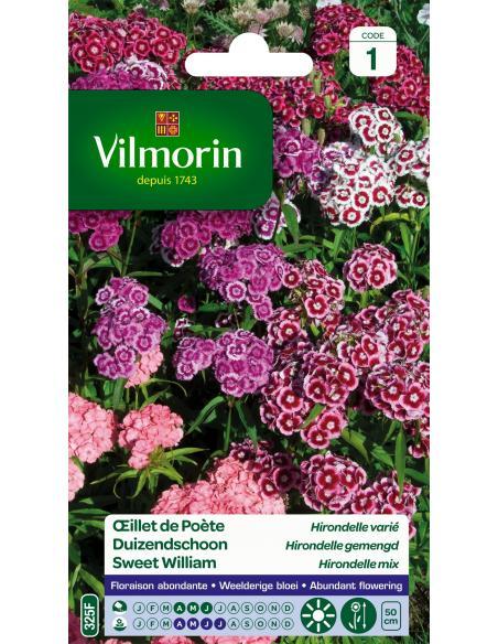 Oeillet de poète hirondelle varié Vilmorin Graines de fleurs
