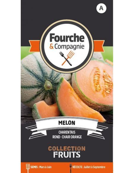 Melon Charentais Fourche et Compagnie Graines potagères