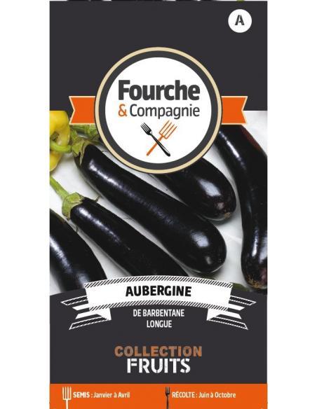 Aubergine de Barbentane Fourche et Compagnie Graines potagères