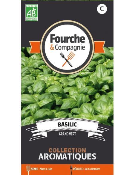 Basilic grand vert Fourche et Compagnie Graines aromatiques