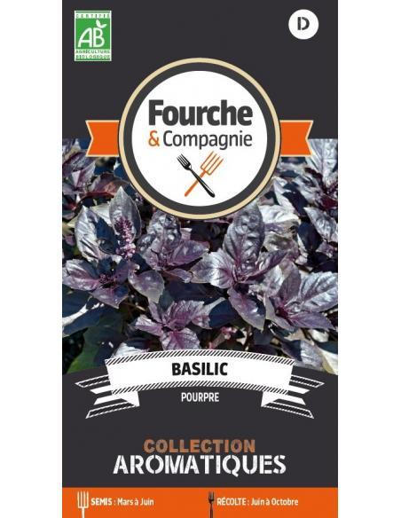 Basilic pourpre Fourche et Compagnie Graines aromatiques