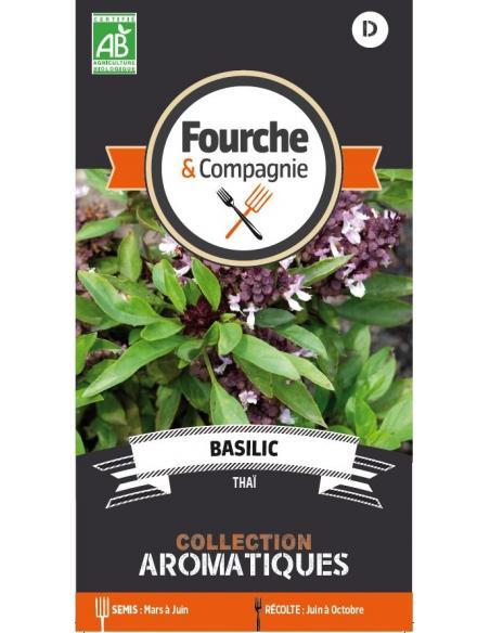 Basilic thaï Fourche et Compagnie Graines aromatiques