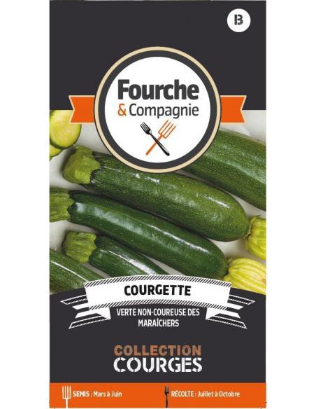 Courgette verte non-coureuse maraîchers Fourche et Compagnie Graines potagères