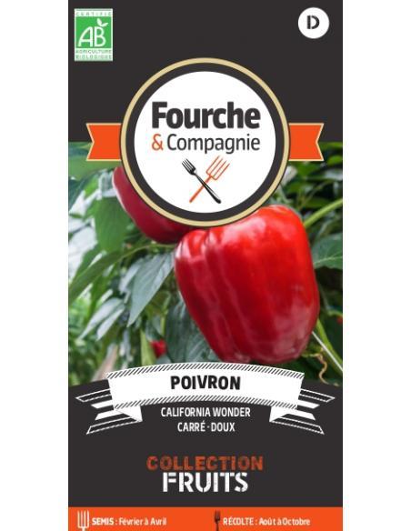 Poivron California wonder Fourche et Compagnie Graines potagères