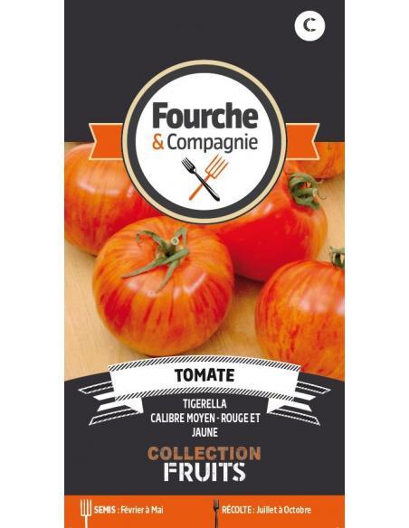 Tomate Tigerella Fourche et Compagnie Graines potagères