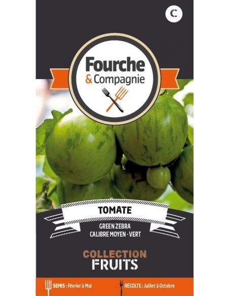 Tomate green zebra Fourche et Compagnie Graines potagères