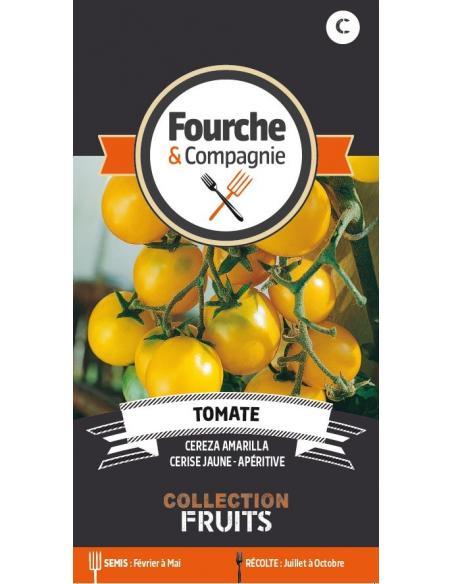Tomate Céréza Amarilla Fourche et Compagnie Graines potagères