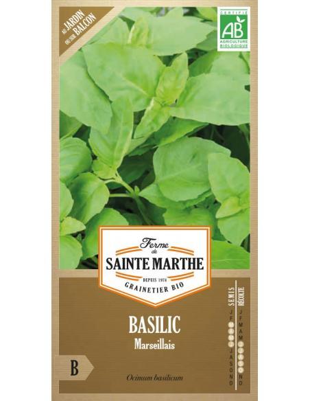 Basilic Marseillais La Ferme de Sainte Marthe Graines aromatiques