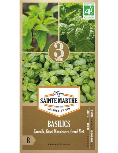 Basilic mélange La Ferme de Sainte Marthe Graines aromatiques