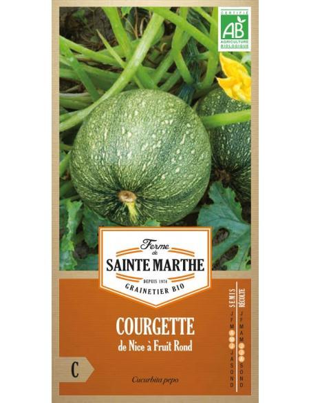 Courgette de Nice à fruits ronds La Ferme de Sainte Marthe Graines potagères