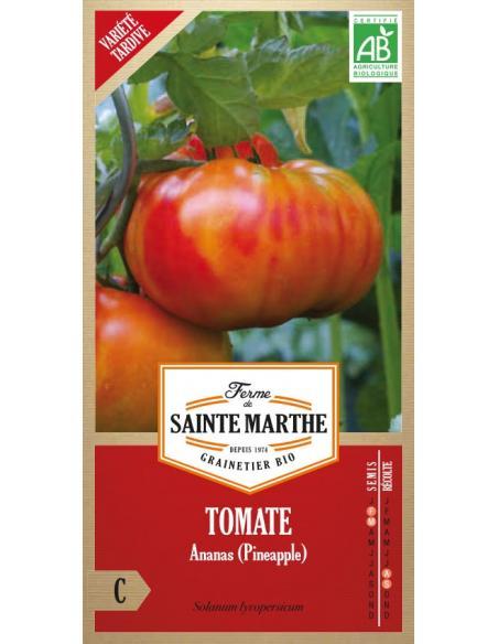 Tomate ananas La Ferme de Sainte Marthe Graines potagères