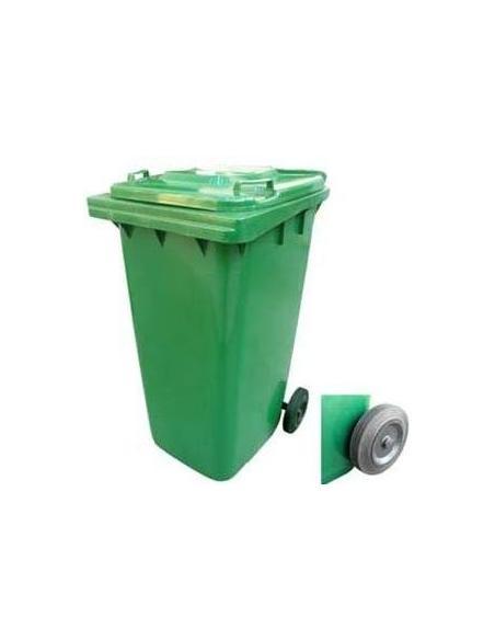 Poubelle à Roulette 120 Litres Verte Bellijardin Gestion des déchets