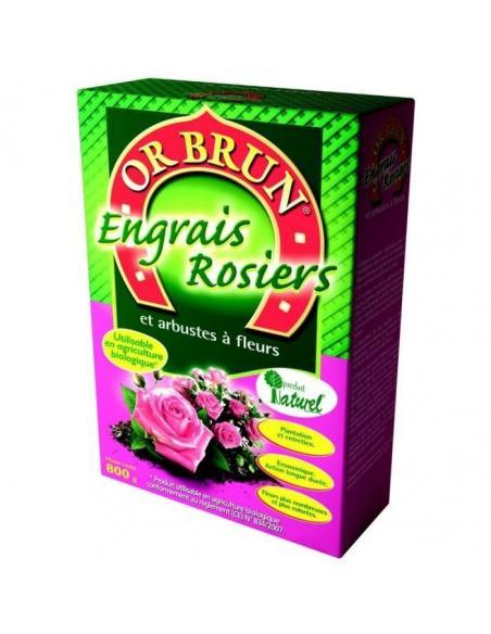 Engrais Rosiers & Arbustres à fleurs 800gr Or Brun Engrais