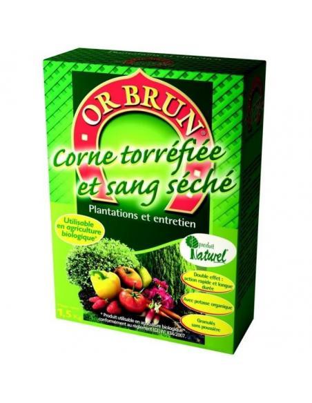 Corne Torréfiée + sang séché 4Kg Or Brun Engrais