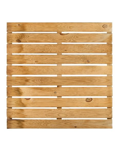 Dalle bois rainurée 100x100x3,6 cm  Dalles, galets et pas japonais