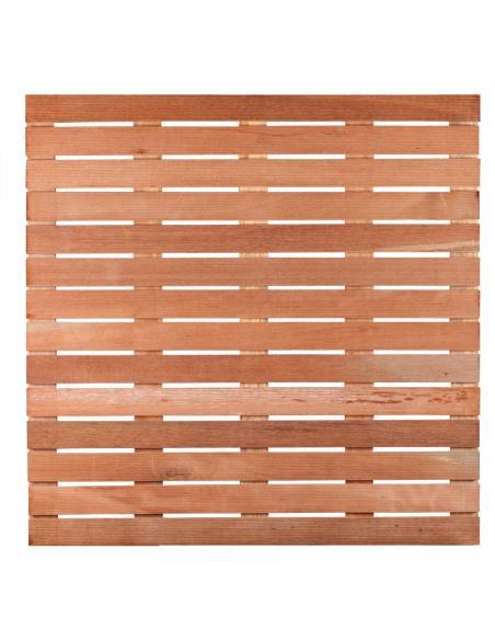 Dalle bois rainurée exotique 100x100x2,4 cm  Dalles, galets et pas japonais