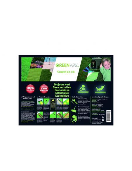 Gazon synthétique 20mm largeur 2m vendu au M²  Gazon synthétique