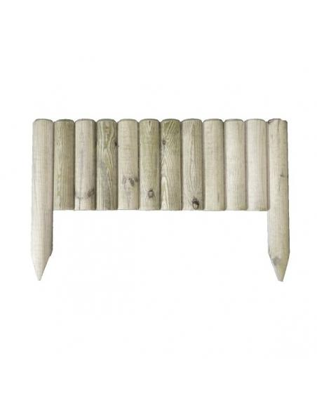 Mini bordure droite en bois L.55 x H.20/35 cm HillHout Bordures