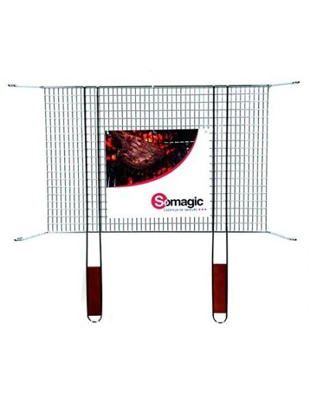 Grille simple sur pied 60x40cm Somagic barbecue Cuisson et entretien