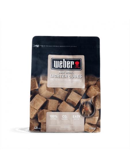 Cubes allume-feu brun x48 Weber Cuisson et entretien