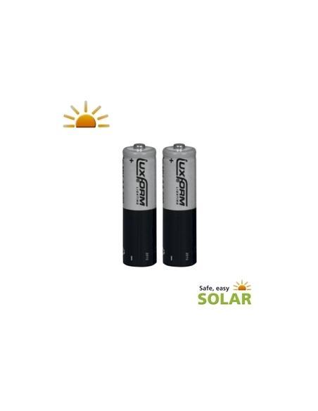 Piles solaires AA rechargeables x2 Luxform lighting Eclairage