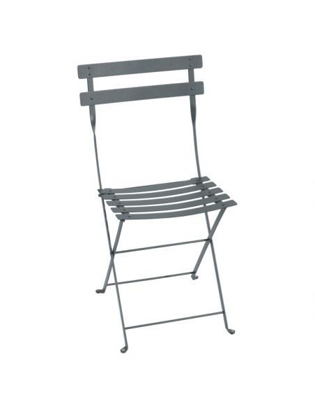 Chaise pliante Bistro gris orage Fermob Salons de jardin repas