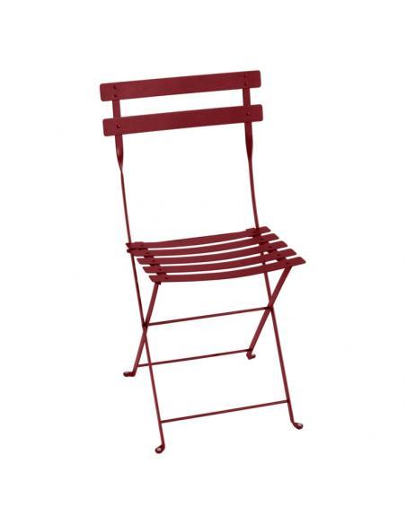 Chaise pliante Bistro piment Fermob Salons de jardin repas