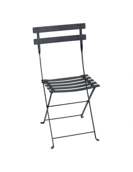 Chaise pliante Bistro carbone Fermob Salons de jardin repas