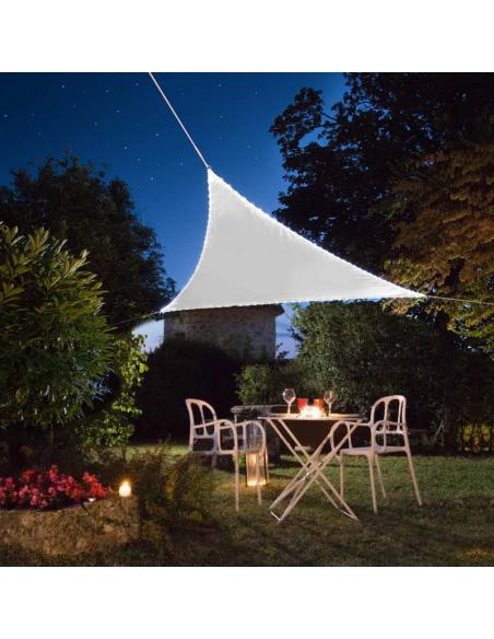Voile d'ombrage à LED triangulaire 360 Jardiline Voiles d'ombrage