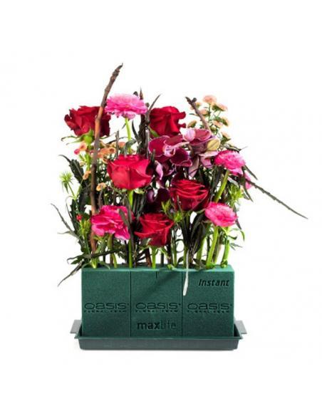 Brique sèche mouillable verte  Vases et fleuristerie