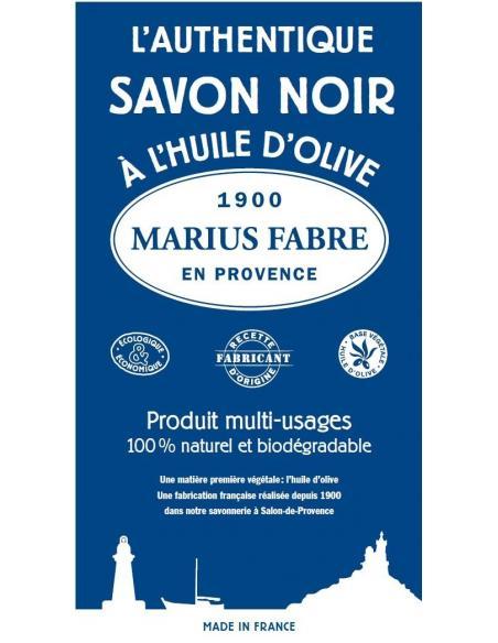 Savon noir liquide 1L Marius Fabre Savons et lessives au naturel