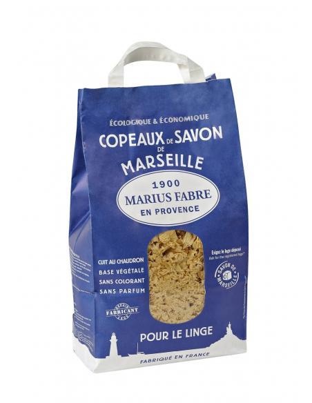 Savon de Marseille en copeaux Marius Fabre Savons et lessives au naturel