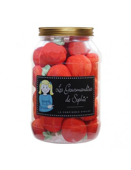 Grosses fraises en bocal Les gourmandises de Sophie Epicerie sucrée (et salée à venir !)
