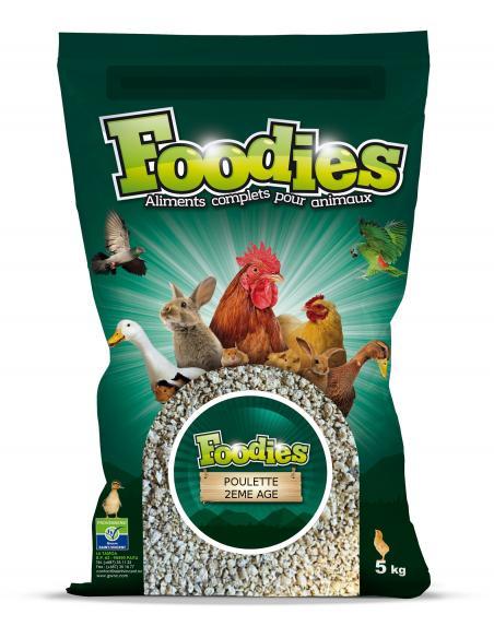 Aliment poulette 2ème Âge émietté 5Kg Foodies Alimentations et accessoires