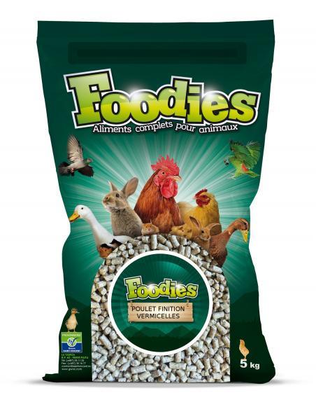 Aliment poulet finition vermicelle 5Kg Foodies Alimentations et accessoires