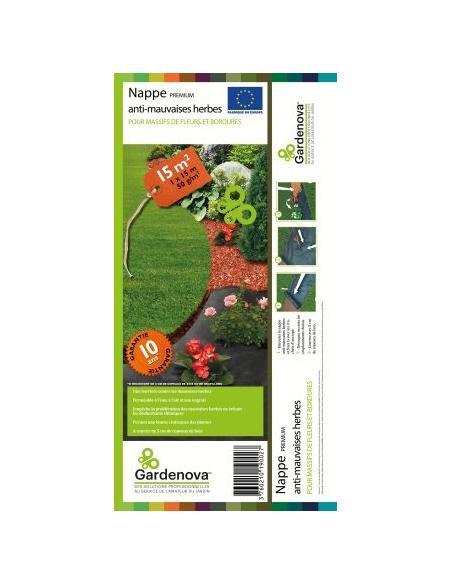 """Nappe Anti-Herbe 15m2 """"Premium"""" Gardenova Serres, protection des cultures et récolte"""